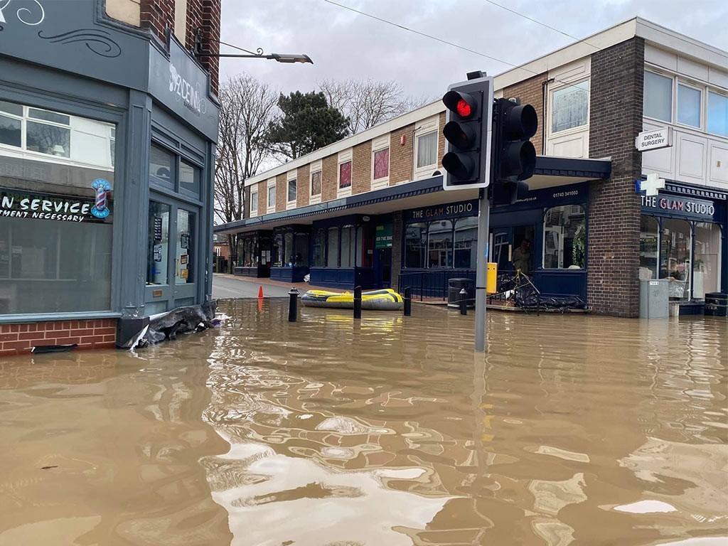 Longden Coleham Floods